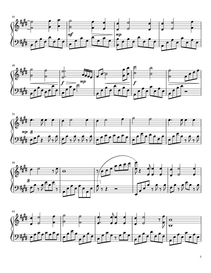 Piano sheet My heart will go on - Titanic