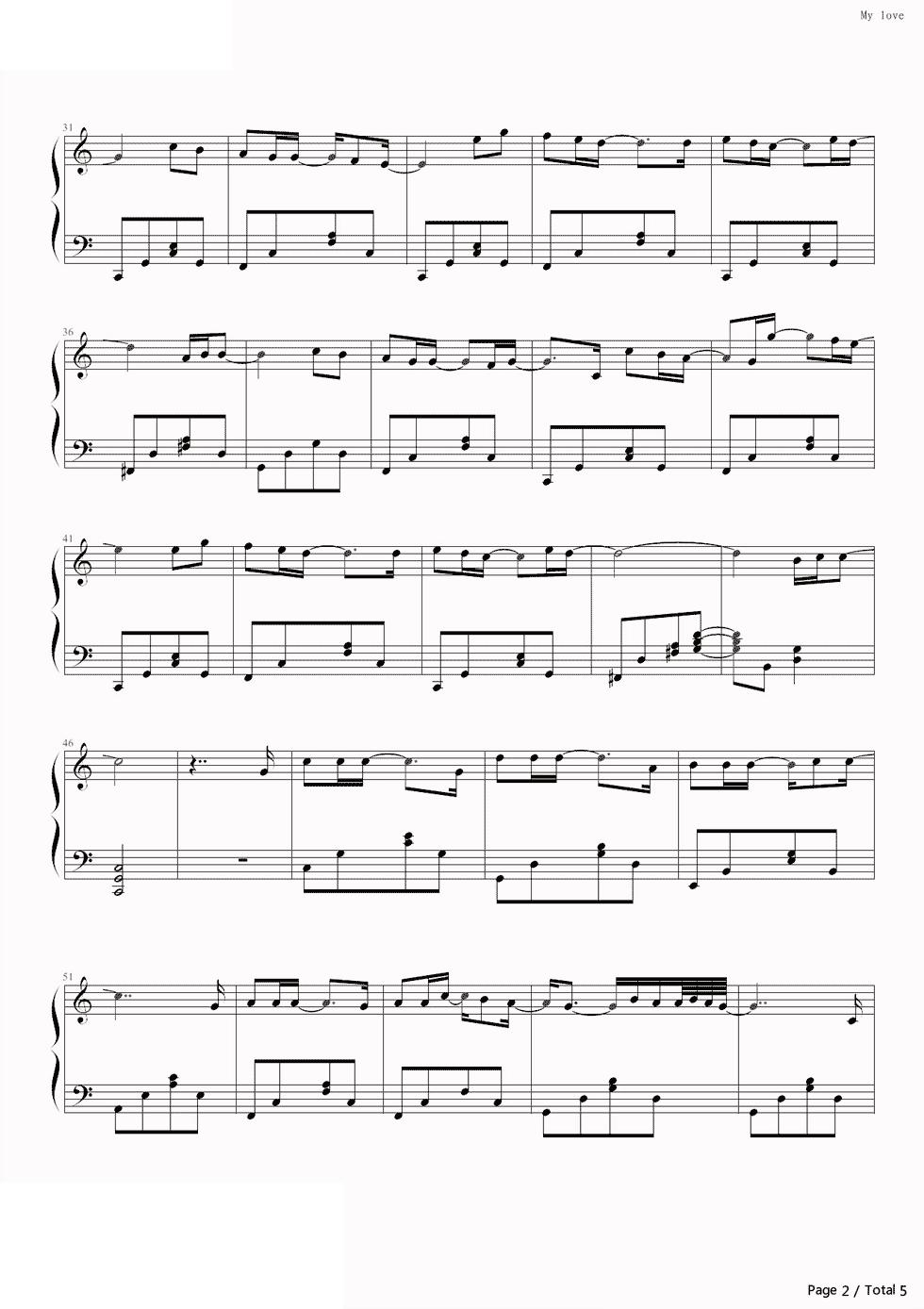 piano-sheet-my-love-westlife-2