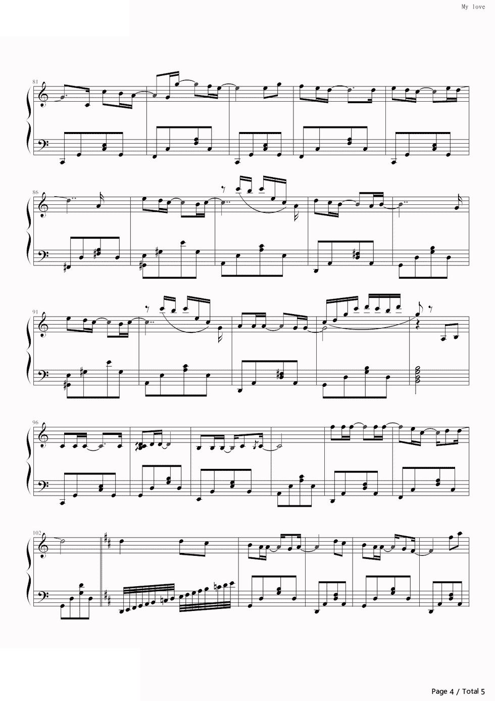 piano-sheet-my-love-westlife-4