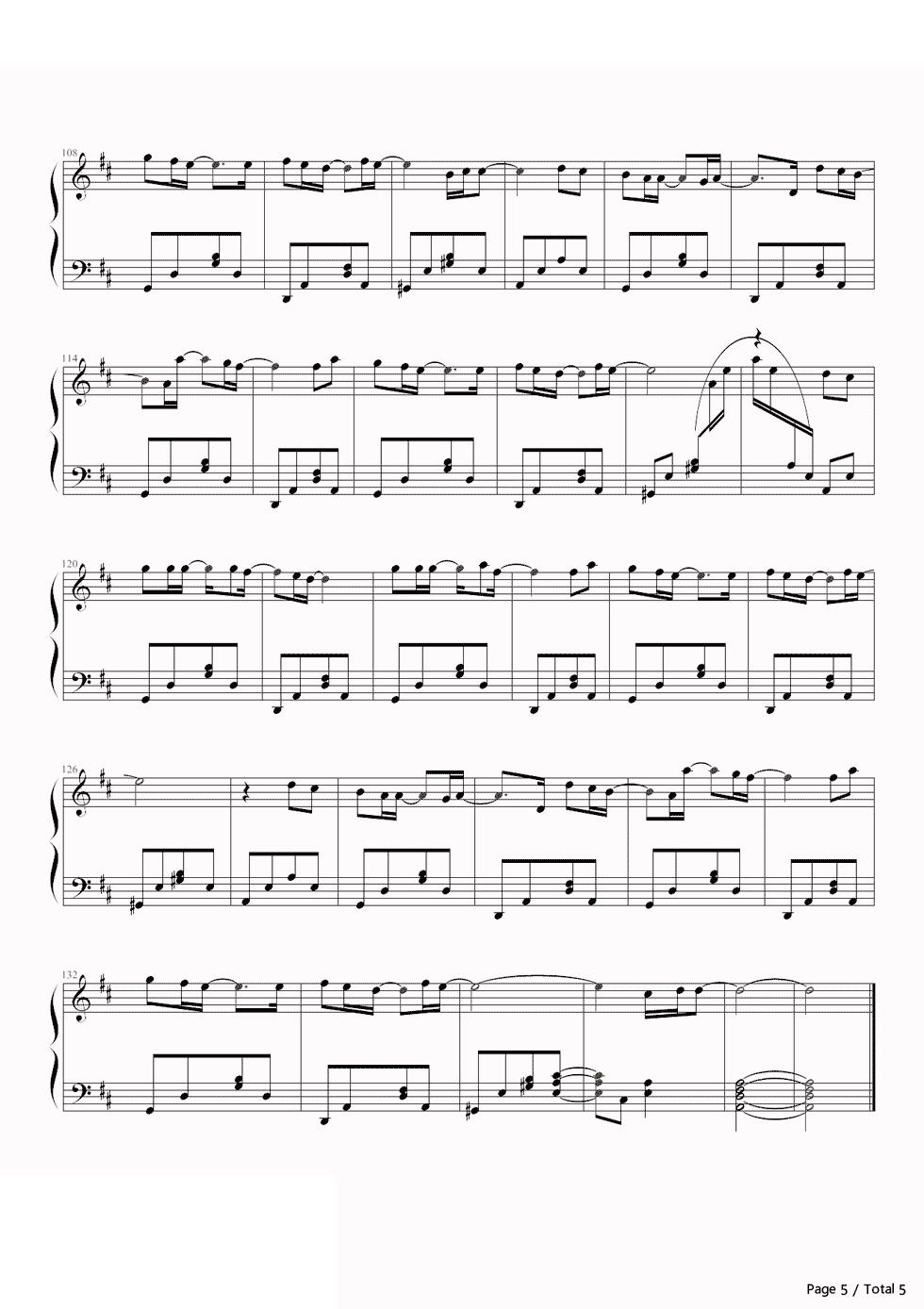 piano-sheet-my-love-westlife-5