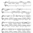 Piano sheet The day you went away - M2M