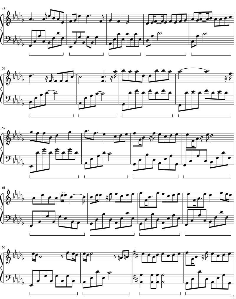 Piano sheet Một bước yêu vạn dặm đau - Mr. Siro