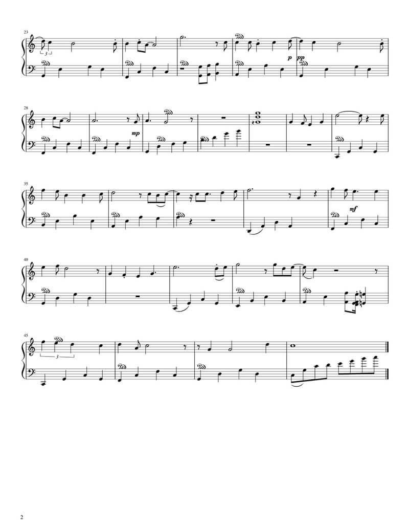 Piano sheet Nàng thơ   Hoàng Dũng